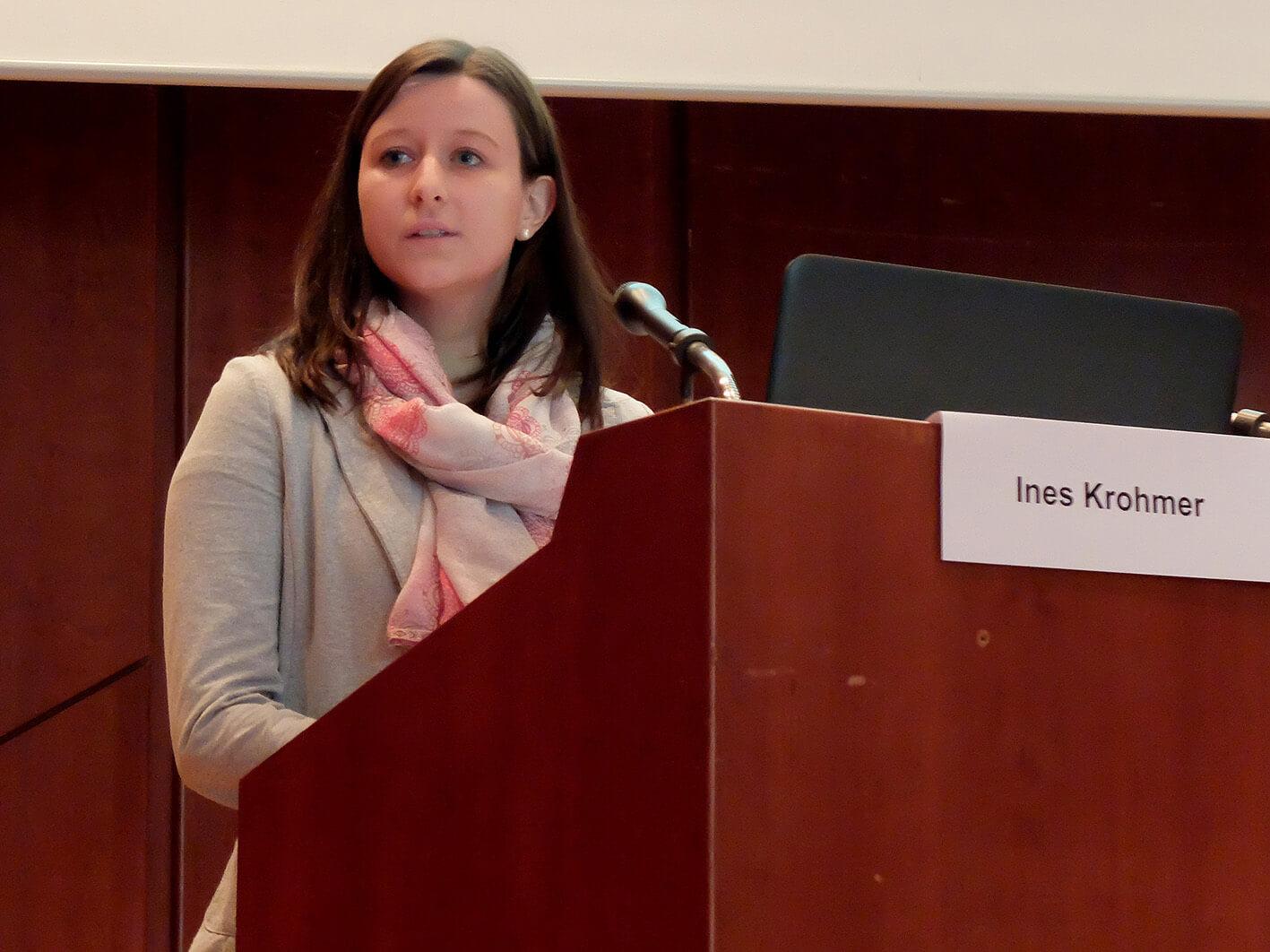 Vortrag von Frau Ines Krohmer am Wundsymposium