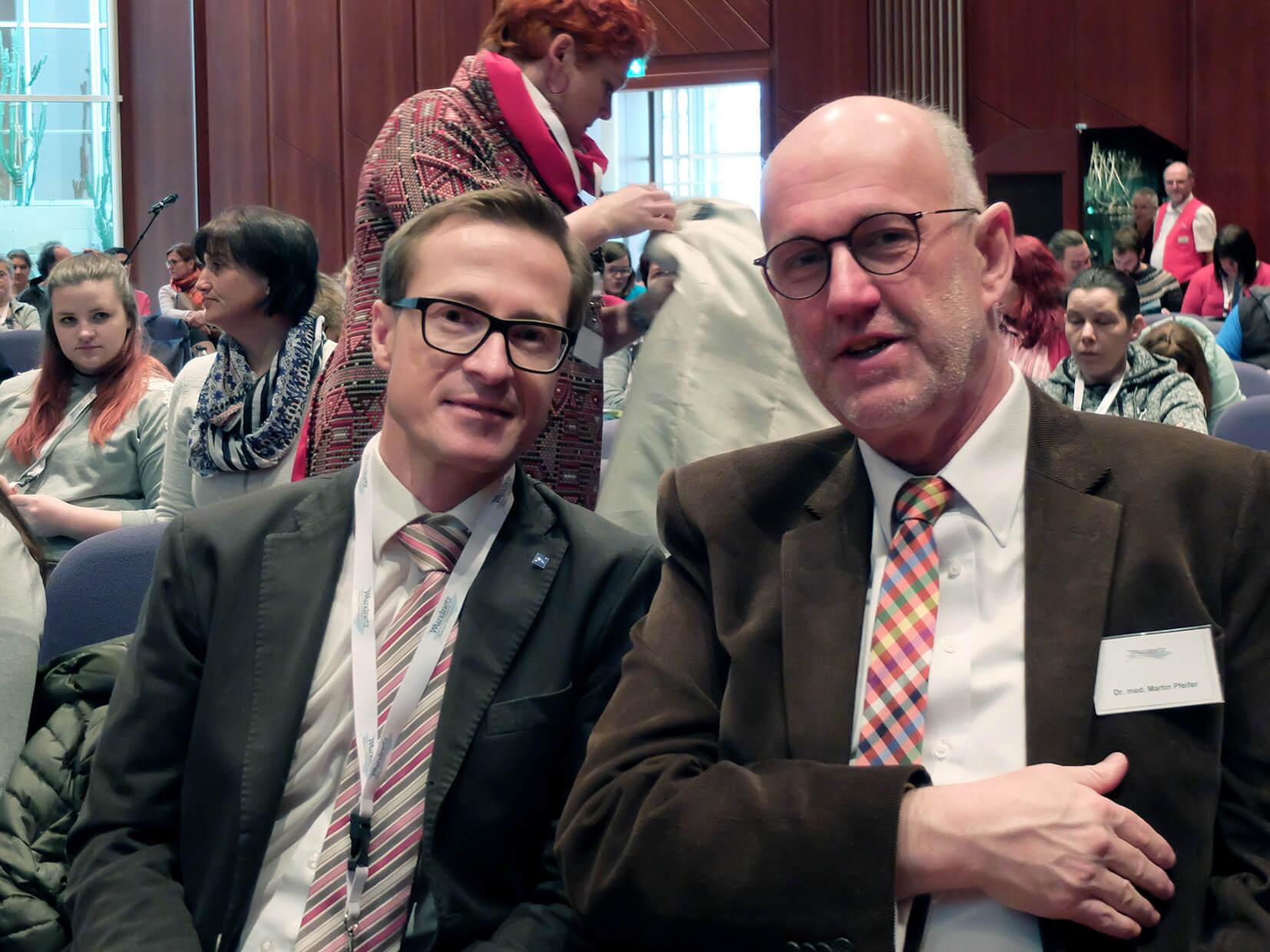 Herr Ruggaber und Herr Pfeifer beim Wundsymposium